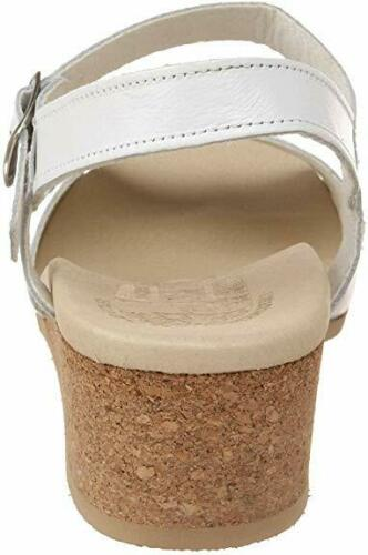 Worishofer Women/'s 711 Comfort Ankle Strap Sandal White Leather Granny Sandals