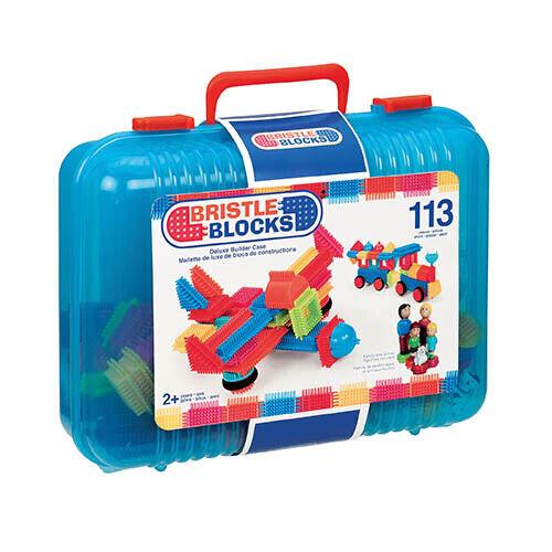 Bristle Bristle Bristle Blocks 113 Teile Koffer - Steckspielzeug Noppenbausteine 11481e