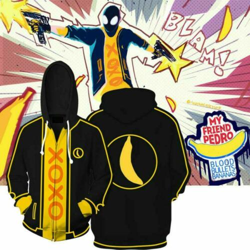 My Friend Pedro Hoodie Yellow Sweatshirts Bananas Adult Jacket Coat Costumes New