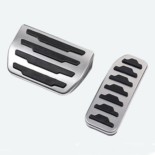 2Pcs New No Drilling Sport Fuel Brake Pedal Pad Cover For Jaguar XE 2015 2016