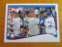 2014 Topps - ERROR - NO NAME - Miguel Cabrera Tigers - Chris Davis Orioles #29