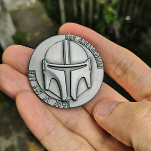 Star-Wars-The-Mandalorian-Collect-Metal-Coin-Bounty-Hunter-Boba-Fett-Props