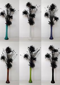 Black phoenix silk flowers in a choice of 30cm glass vase ideal image is loading black phoenix silk flowers in a choice of mightylinksfo