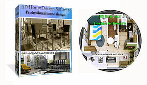 3d 2d home house room office interior planing design pro cad software pc cd 3213292705240 ebay. Black Bedroom Furniture Sets. Home Design Ideas