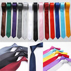 Polo Skinny Tie Solid Color Plain Jacquard Woven Party&Wedding Necktie Silk Men