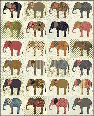 Quilt Pattern ~ ELEPHANTS ~ by Laundry Basket Quilts