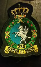 RNLAF Patch 334 Squadron Royal Netherlands Air Force Fighter Bomber Patch