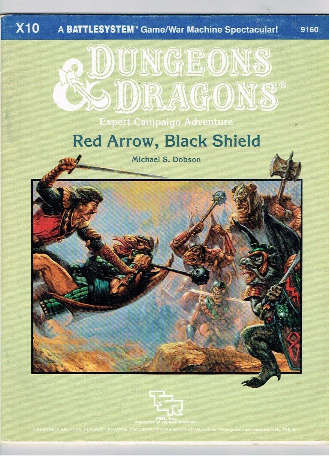 Avanzado Calabozos y Dragones Experto Campaña Rojo Flecha negro ARROW X10 1985