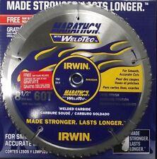 "Irwin Weldtec 4935204 8-1/2"" x 60T Carbide Saw Blade 2 Blades"