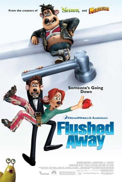 FLUSHED AWAY MOVIE POSTER 2 Sided ORIGINAL FINAL 27x40