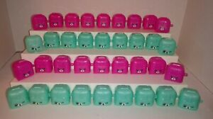 Shopkins-36-Piece-Lot-of-Empty-Pink-and-Teal-Backpacks-Containers-EMPTY