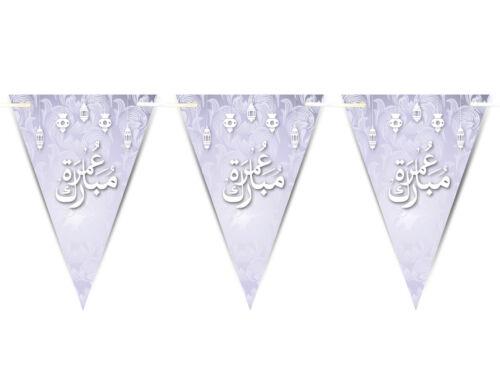 Fuente del empavesado islámico árabe Fajr Mubarak Celebración Banderas Banner Decoración D8