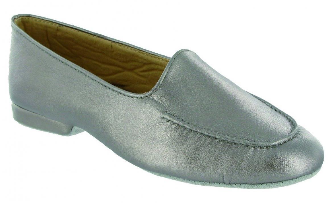 Cincasa Minorca Donna Morbida Pelle Comode Mocassini Pantofole peltro argento
