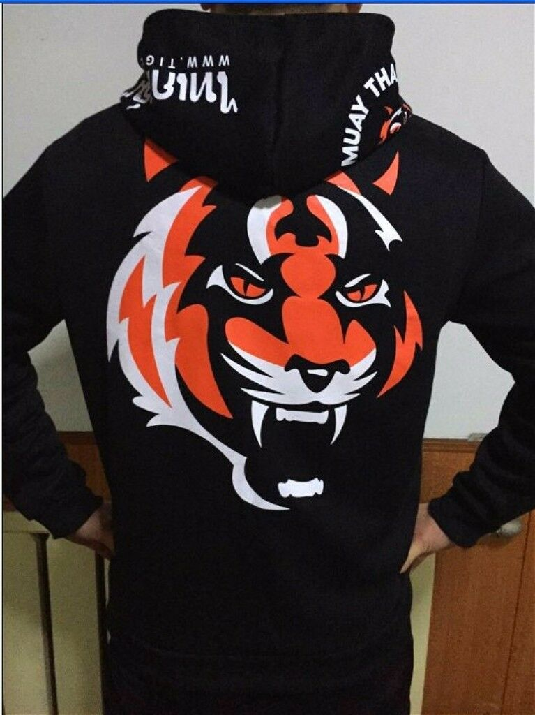 Muay Thai MMA Hoodie Sweatshirt Boxing Tiger Long Sleeve Body-Building  Clothes  gorgeous