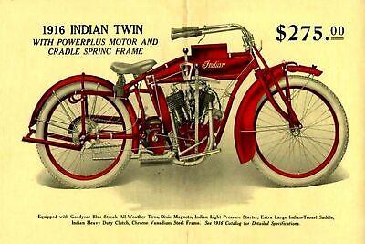 garage man cave gift Indian Motorcycles Advert Vintage Retro style Metal Sign