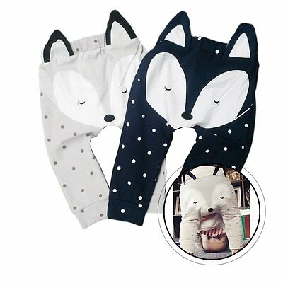 Newborn Infant Kids Baby Boy Girl Fox Bottom Pants Leggings Harem Pants Trousers