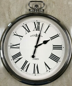 Details About Large Round Pocket Watch Wall Clock