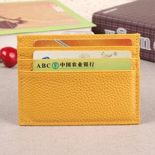 Men Women Leather Small Soft Wallet Clip ID Credit Card Holder Slim Pocket Case