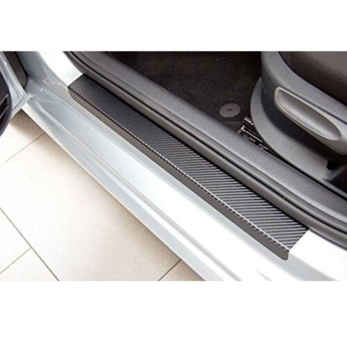 4pcs 3D Carbon Fiber Vinyl Car Door Plate Sill Scuff Cover Anti-Scratch Sticker