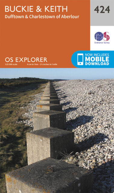 Buckie and Keith Explorer Map 424 - OS - Ordnance Survey
