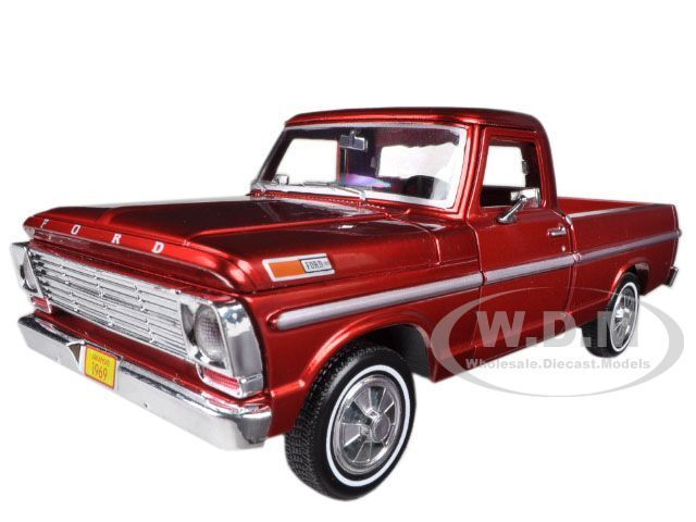1969 Ford F-100 Tow Truck Burgundy 1//24 Diecast Model by MOTORMAX 75345BUR for sale online