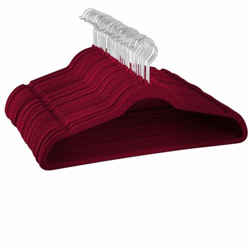 Non-Slip Velvet Hangers Ultra Thin Space saving Durable Hangers Suit Hangers