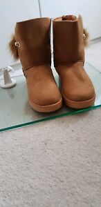 Pom And Size Pearl Camel Women's Warm Ankle 7 Boots Ladies Detail xIwqPU8z6