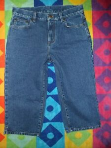 RALPH-LAUREN-ladies-10p-Petite-High-Waist-Capri-Blue-Jeans-30x17-5-Tapered-Leg