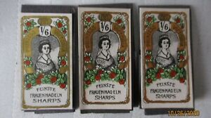 Antique-Prinzess-Victoria-1-6-Sewing-Needles-Feinste-Frauen-Nadeln-Sharps-3pk-25