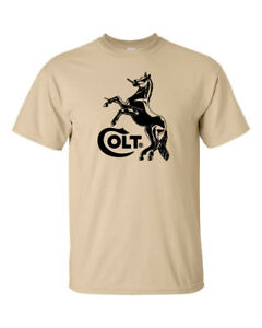 Colt Black Logo T Shirt 2nd Amendment Pro Gun Rights Tee Rifle Pistol Firearms