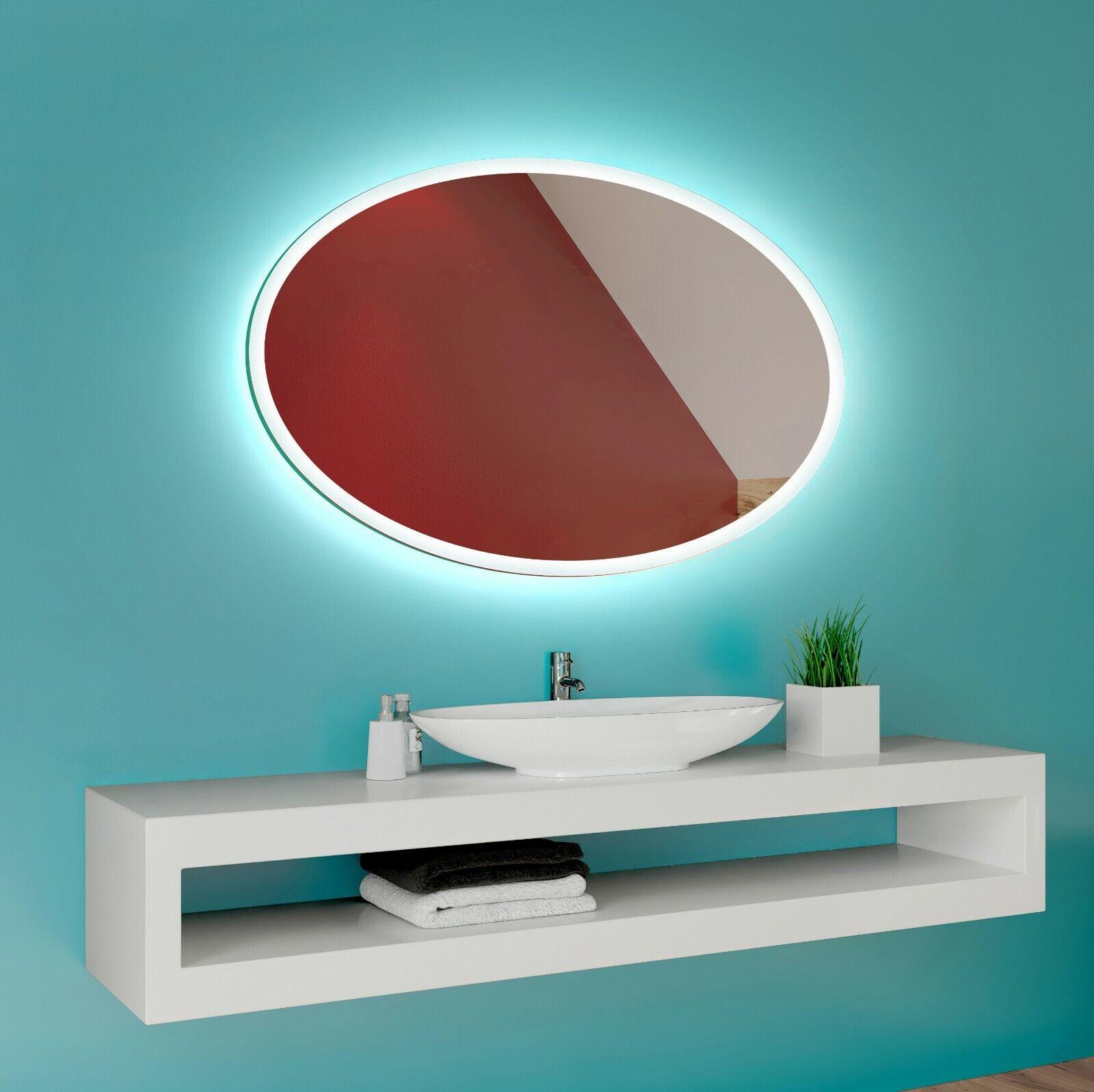 ECO Badspiegel mit LED Beleuchtung Wandspiegel Badezimmerspiegel nach Maß L74