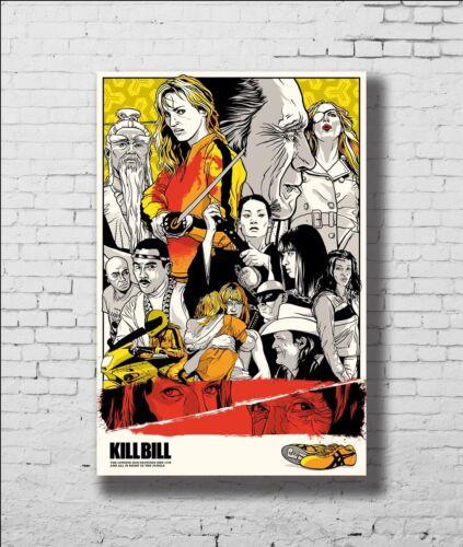 P-282 Art Kill Bill Vol Classic Movie Uma Thurman LW-Canvas Poster 21 24x36in