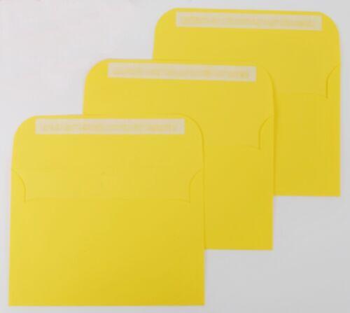 Box Of 250 Yellow C6 Peel /& Seal Coloured Envelopes 114 x 162mm 100gsm