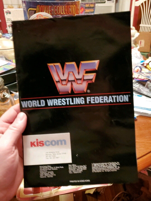 VINTAGE WWF WWE giocattolo catalogo Hasbro Titan LJN ProssoOTIPO GUERRIERO HOGAN 1990 kiscom