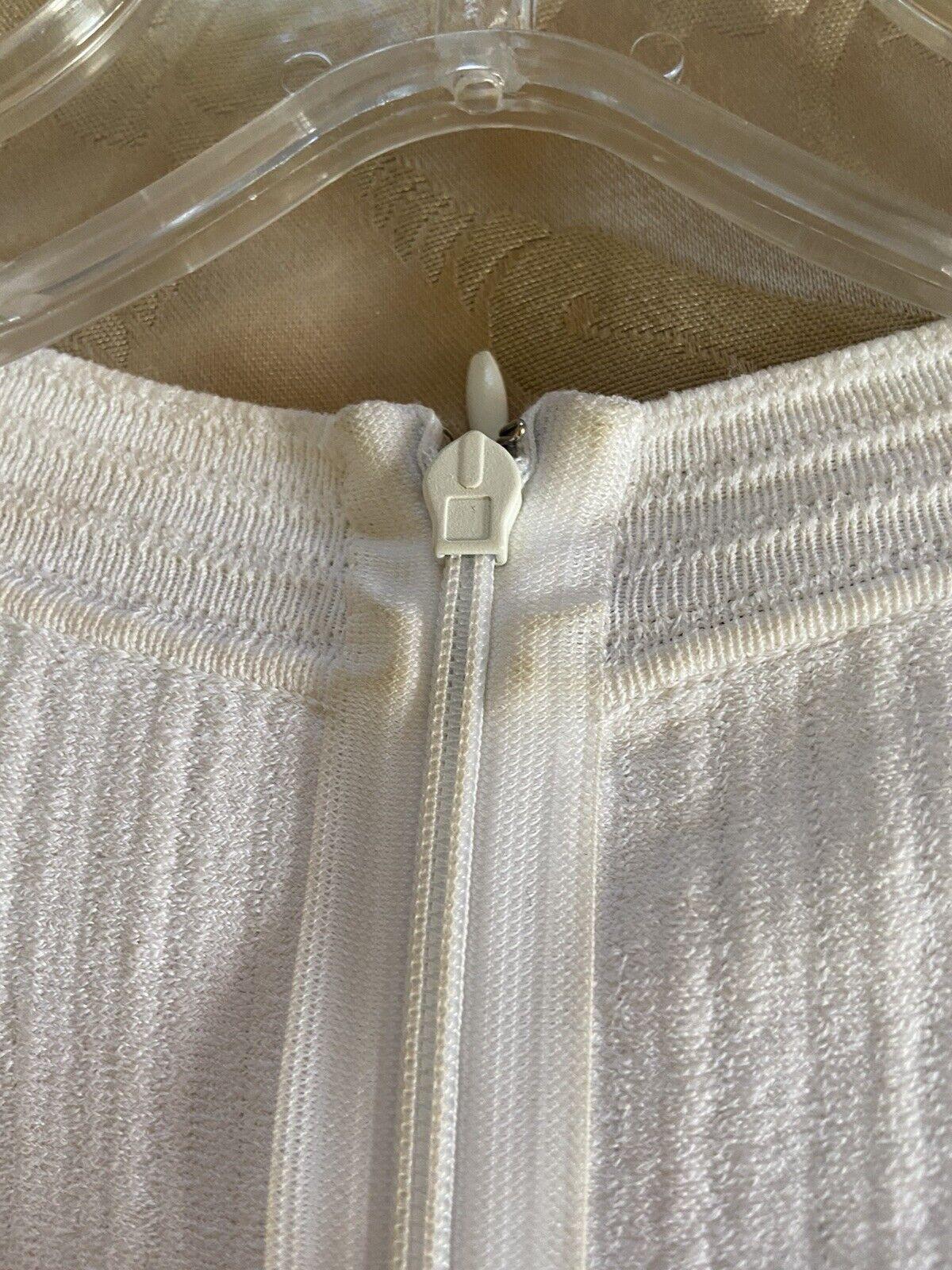 Azzedine Alaia White Long Sleeve Top Blouse Dress… - image 7