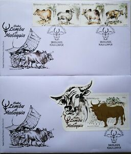 Malaysia FDC with MS & Stamps (18.03.2021) - Cattle Breeds in Malaysia