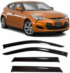 For-Hyundai-Veloster-2011-2017-Window-Side-Visors-Sun-Rain-Guard-Vent-Deflectors