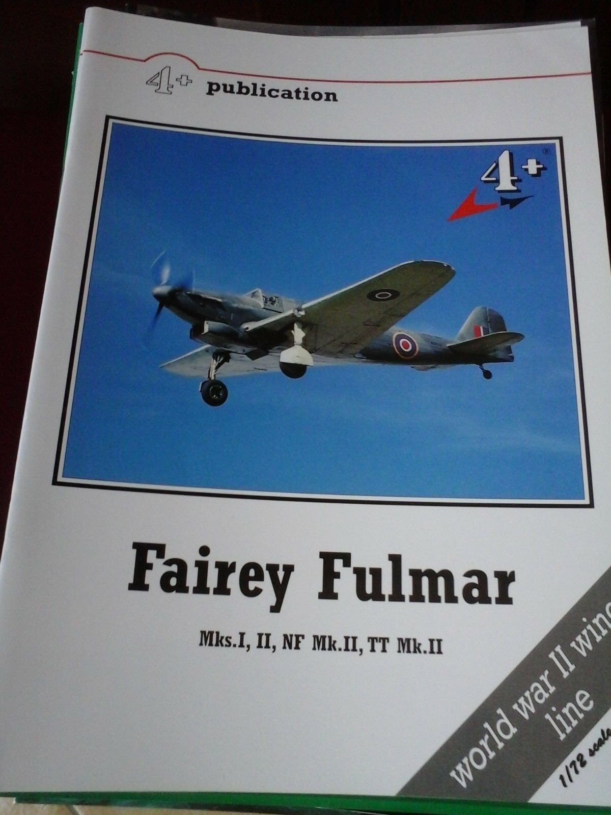 FAIREY FULMAR Mks.I,II,NF Mk.II,TT Mk.II--BY 4+PUBLICATION MARK1LTD WWII WINGS L