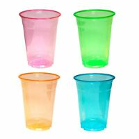 40 Neon Assorted Soft Plastic 16oz Wedding Birthday Party Tableware Cups