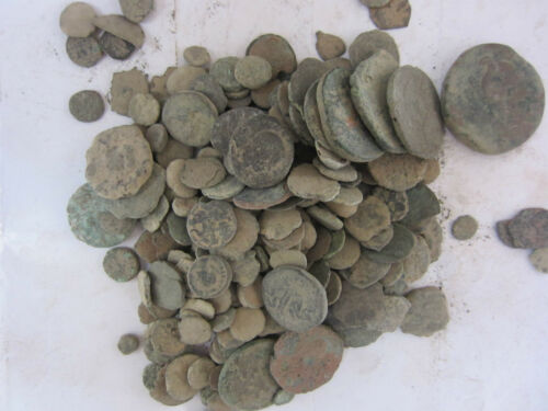 25-Diana Dirty Ancient mostly small coins found in the Jerusalem /& Holyland