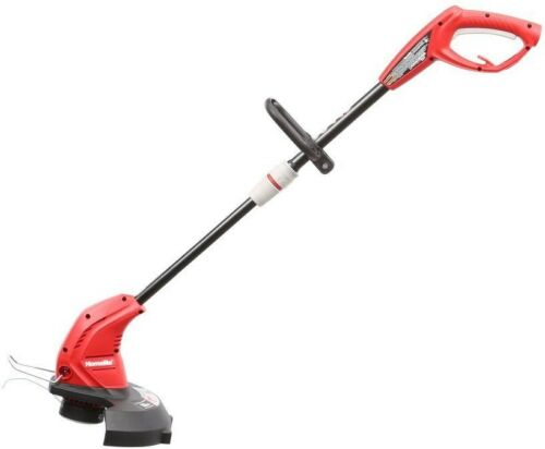 Electric String Trimmer Corded Weed Eater Adjustable Shaft And Pivoting Head
