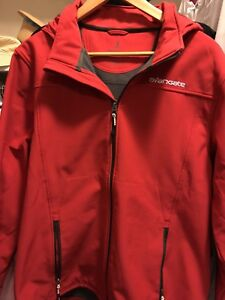 Details about Elevate Langley Jacket soft shell with hood. Men's Large