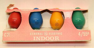 Vintage Christmas Lights GE C-7 C7 4 Bulbs Indoor HTF Pack ...