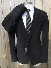 New Z ZEGNA Drop 8 Dark Navy 2Btn Flat Front Suit Slim Fit 54 44R 42R NWT $1295!