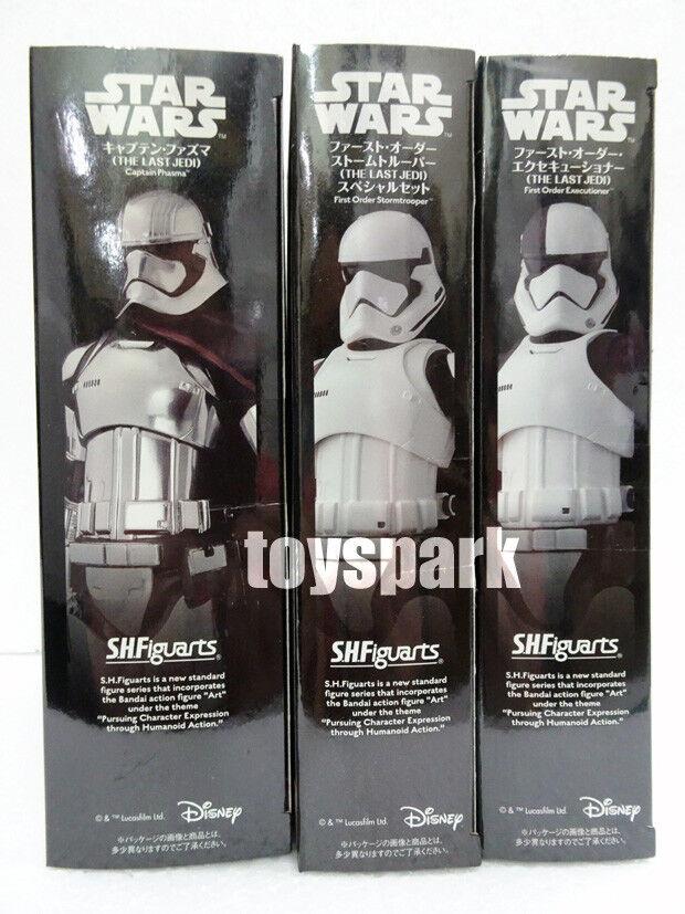 S.h.Figuarts Star Wars 3  x First Order Stormtrooper +Executioner +Captain Phasma  achats de mode en ligne