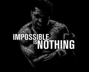 Impossible Is Nothing Quote Custom Muhammad Ali Quote Impossible Is Nothing Poster  Ebay