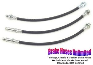 BRAKE-HOSE-SET-Oldsmobile-Jetstar-88-1964