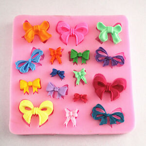 Cake Mold Butterfly Bow Knot Design Silicone Fondant ...