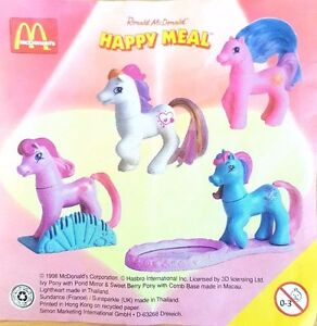 McDonalds-Happy-Meal-Toy-1998-My-Little-Pony-Plastic-Horse-Toys-Various