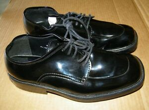 Preowned-After-6-Hours-Lace-Up-Mens-Oxford-Black-Tuxedo-shoes-Size-8